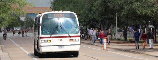 bus on campus