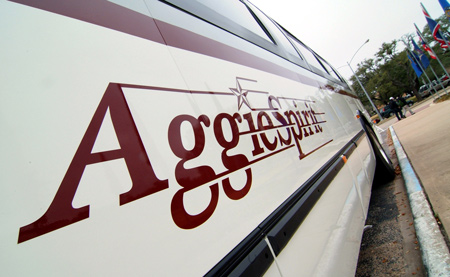 Photo of Aggie Spirit bus