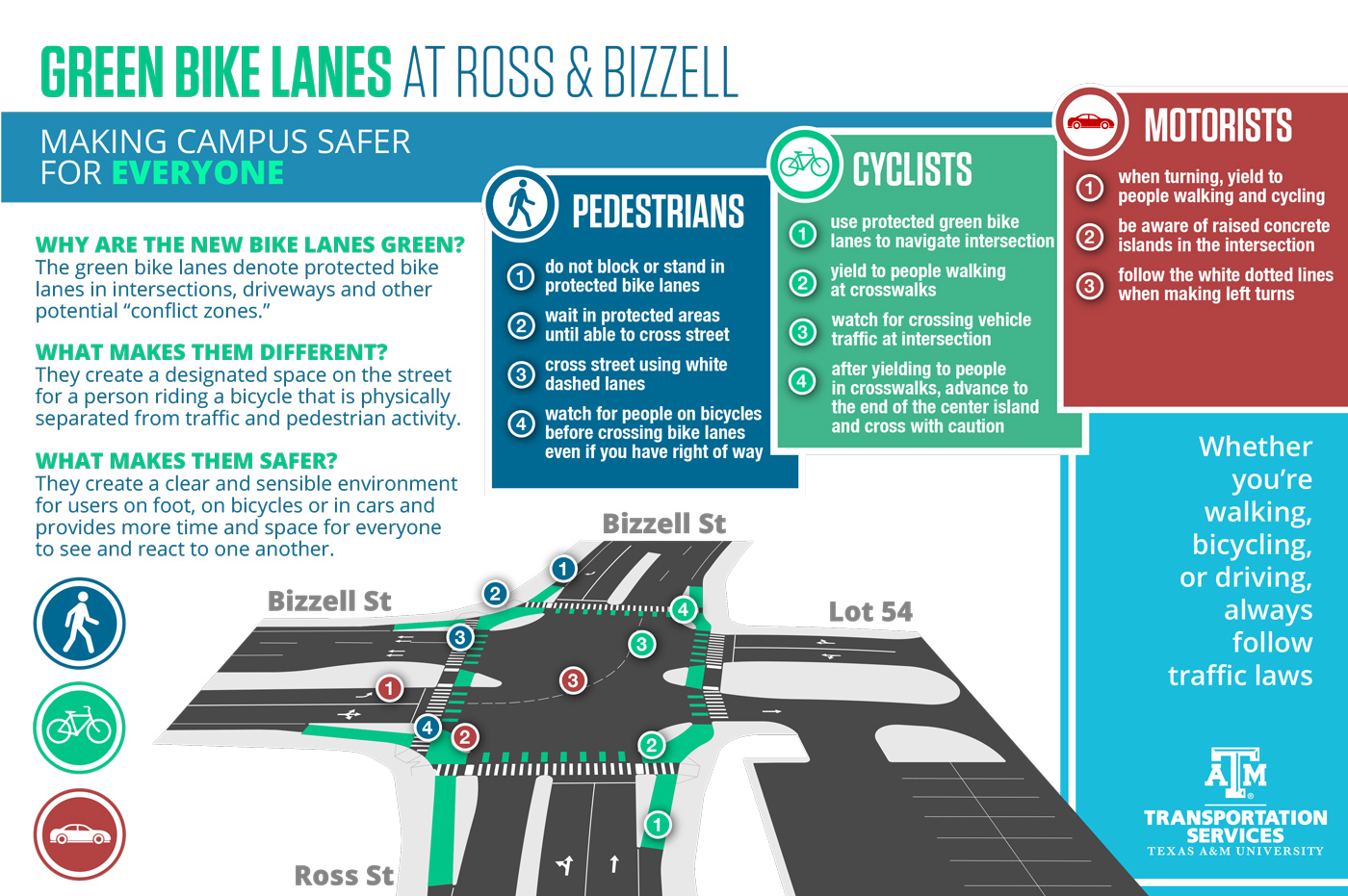 Bike lane infographic