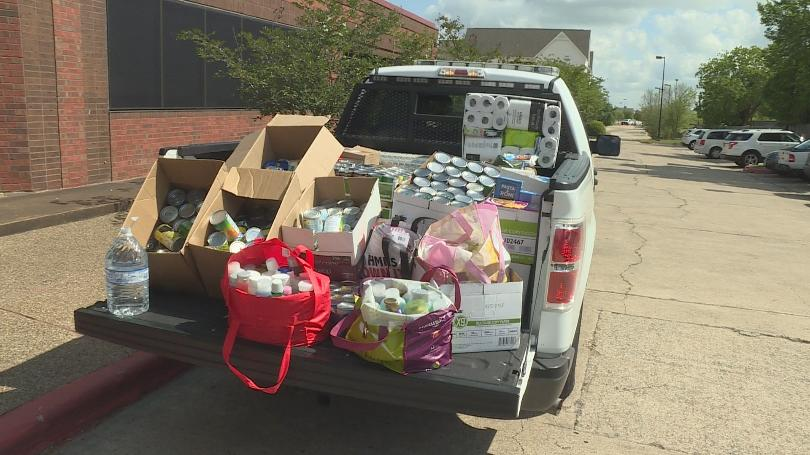 Donations were delivered to Brazos Valley Food Bank