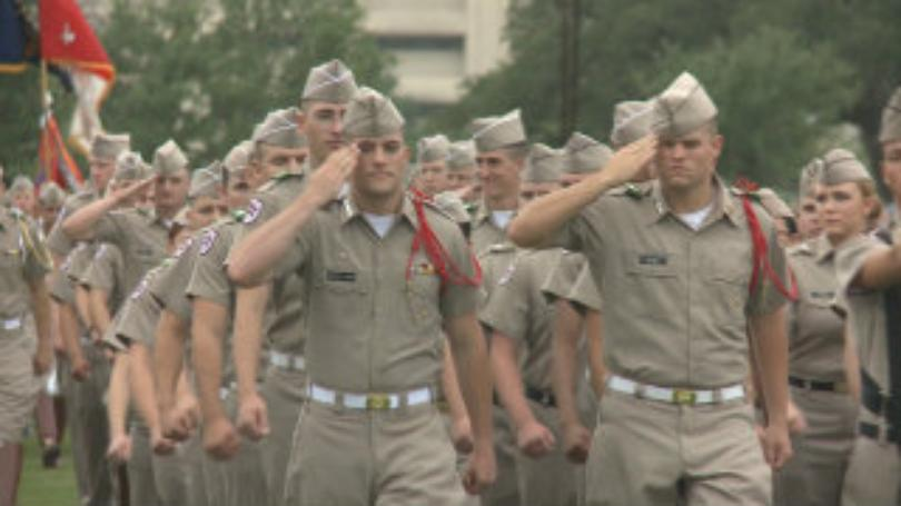 Corps of Cadets march in