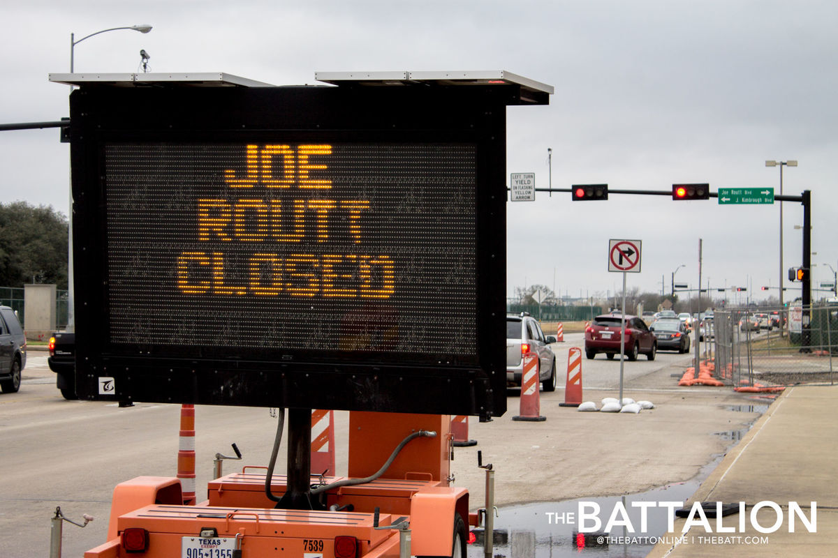 Joe Routt closed street sign