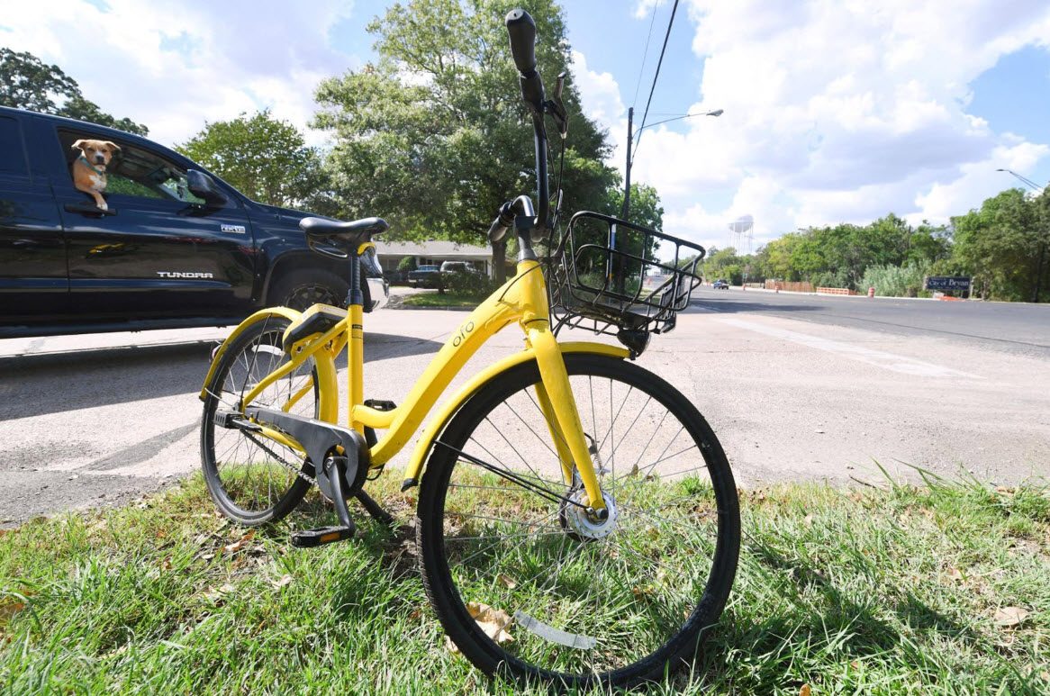 ofo in front of truck