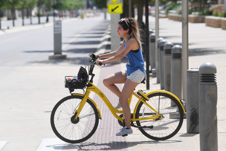 ofo bike outside Blue Bell Park