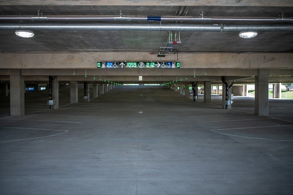 interior view of Polo Rd. Garage