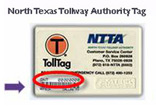photo to assist in locating North Tx Authority toll tag number