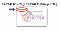 photo to assist in locating EZ Tag Box/Motorcycle toll tag number